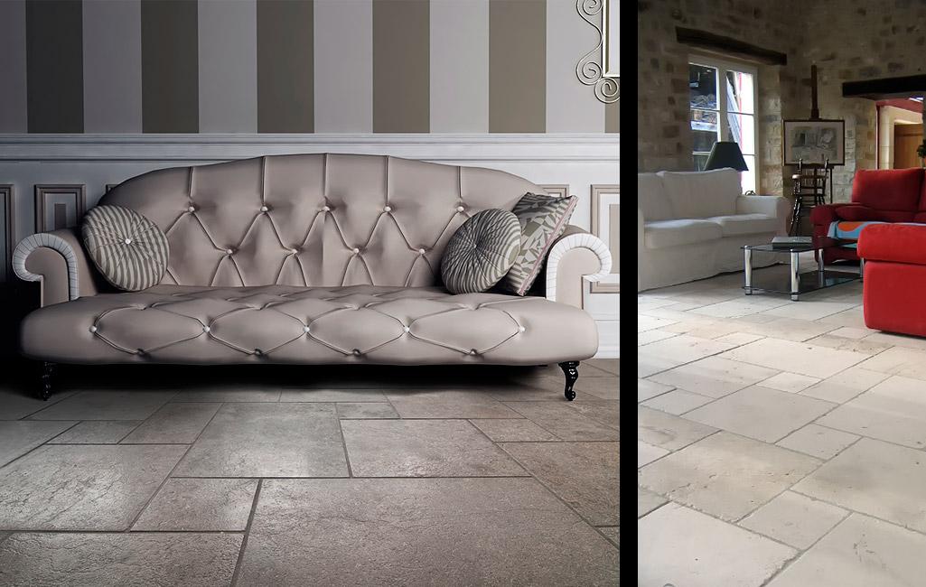 natursteine & antike fliesen für ihr wohnzimmer von topceramic+stone, Deko ideen